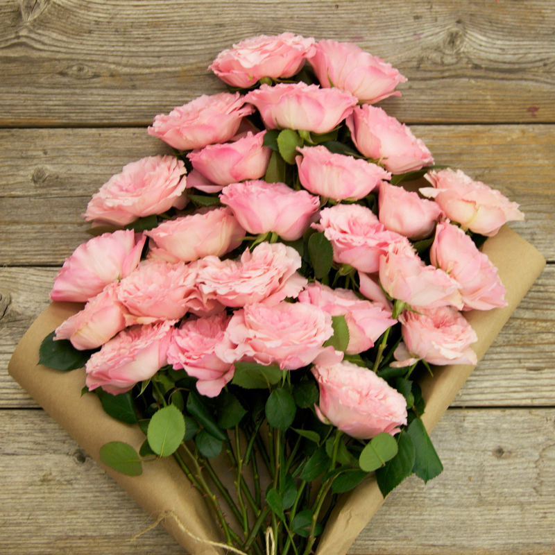 Pink Peony Roses in Provence Bouquet